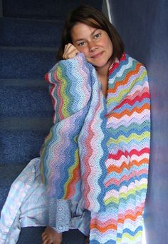 The Ripple ~ Beautiful! Simple FREE pattern - you might like to knit this @Rena Johnson