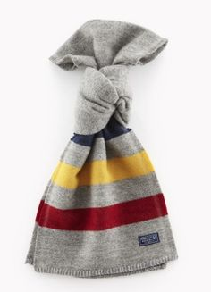 Revival Stripe Wool Scarf (Gray)