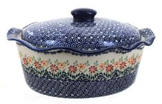 Polish Pottery, Pottery Art, Painted Gourds, Italian Pottery, Polish Recipes, Serving Dishes, Casserole Dishes, Dinnerware, Stoneware