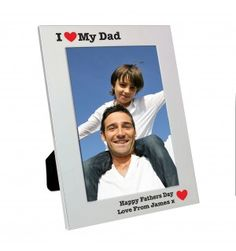 Silver 5x7 I Heart Frame | Photo Frames | Exclusively Personal