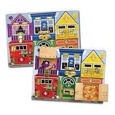 "Melissa & Doug Basic Skills Board and Puzzle - House Latch & Locks - Melissa & Doug - Toys ""R"" Us approx 12""x16"" $24.99"