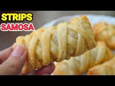 STRIPS SAMOSA || Keema Samosa With Homemade Dough by (YES I CAN COOK) #KeemaSamosa #NewDesignSamosa - YouTube Indian Desserts, Indian Food Recipes, Asian Recipes, Yummy Recipes, Ethnic Recipes, Indian Foods, Party Recipes, Cooking Bread, Cooking Recipes