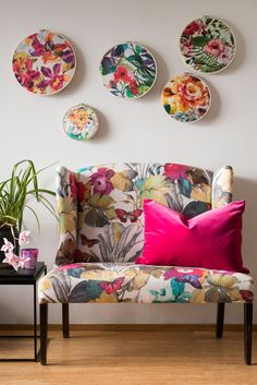 From beautiful blossom prints to large painterly designs, interior decorator Kirsten Di Clemente shares quick ways to add floral touches to your home.