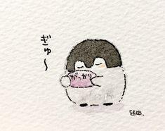 Cute Animal Drawings, Cute Drawings, Penguin Cartoon, Penguin Party, Kawaii Illustration, Cute Wallpaper For Phone, Cute Penguins, Cartoon Art Styles, Hobonichi