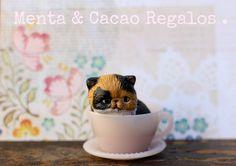 Gato taza porcelana escala 1.2