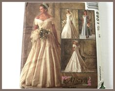 McCall's 6951 Misses' Bridal Gown And by VintagePatternsDepot