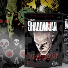 Your morning coffee just got supernatural. Try out new Shadowman roasts from Valiant & Geek Grind Coffee. Colombian Coffee, Dragon Cakes, Home Economics, Dalek, Geek Stuff, Night, Geek Things