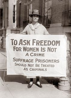 to ask for freedom for women is not a crime. suffrage prisoners should not be treated as criminals.