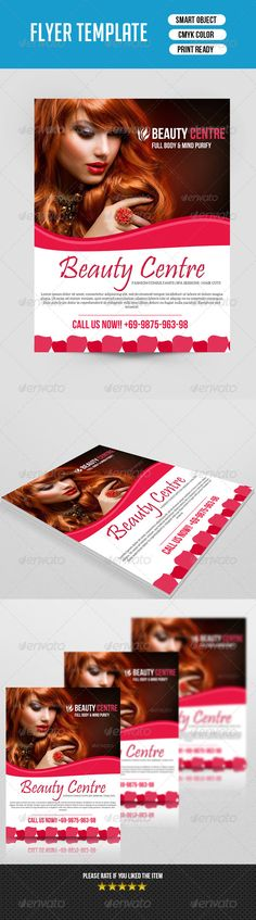 Beauty Salon BrochureV  Brochures Salons And Edit Font