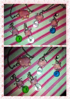 Flying Pigs to go - handgemachte Glasperlen - Lampworkbeads HANDMADE