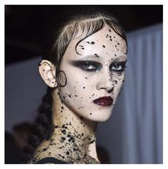 The beauty look backstage at Givenchy's fall 2015 men's show in Paris. Makeup by Pat McGrath.