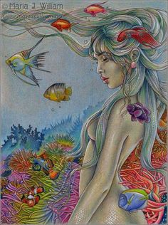 Find this Pin and more on Mermaid Artwork - Modern Misc.