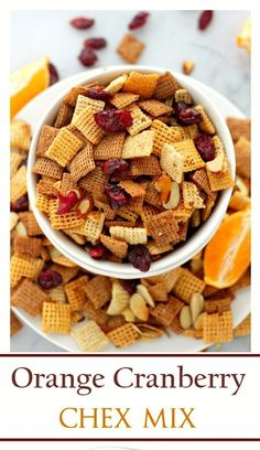 Apple Orange Cranberry Chex Mix ... Mix Seasoning into Melted Coconut ...