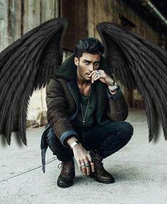 A gorgeous guys Fantasy Male, Dark Fantasy Art, Dark Art, Toni Mahfud, Male Angels, Angels And Demons, Male Fallen Angel, Anime Angel, Character Inspiration
