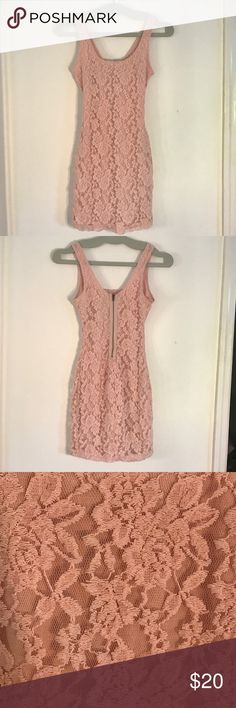 Love Fire lace bodycon dress Love Fire bodycon dress in blush lace. Worn twice. Great condition. Love Fire Dresses Mini
