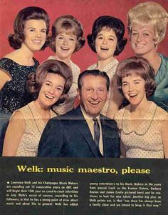 Lawrence Welk and the LENNON SISTERS, Joanne Castle, & Bobby Burgess's dancing partner.
