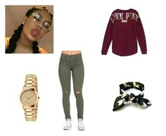 """""""Live pink"""" by amariaprice on Polyvore featuring Victoria's Secret and Gucci"""