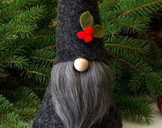 Christmas Holiday Gnome ALISTAIR the JOYFUL by RusticSpoonful