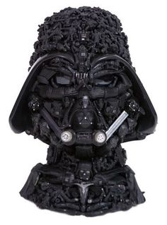 Darth Vader Made of Darth Vader Toys. Freaking. Awesome.
