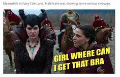 """Lily Sparks' Once Upon a Time """"Enter the Dragon"""" Review: Enter the Girl Gang. """"Meanwhile in Fairy Tale Land, Maleficent was showing some serious cleavage."""""""