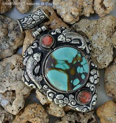 SALE>>>SALE>>>SALE!!! 20% OFF STOREWIDE!!! ENDS APRIL 30th  Tibetan Pendant by SmallWorldofTreasure on Etsy,