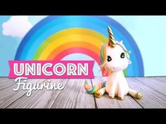 Unicorn Figurine Tutorial, Step by step how to do a cute unicorn for your next cake topper !