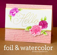 Video: Heatwave Tool + Tone-On-Tone Watercolorm+ GIVEAWAY | Jennifer McGuire Ink
