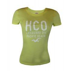 Camiseta Feminina - Hollister - Verde Claro I
