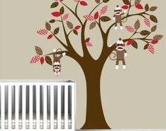 Children Wall Decals Vinyl wall decal Tree with Owls-Vinyl