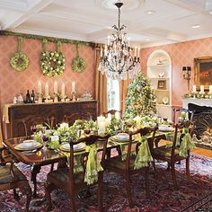 Christmas Formal Dining Rooms On Pinterest Christmas Tables Holiday