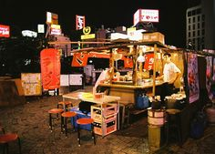 perfect 4 AM, post-partying, breakfast. ramen stall in Fukuoka