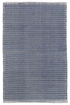 Herringbone Navy/Ivory Indoor/Outdoor Area Rug