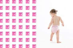 Honest Diapers in Hot Pink Studs, collaboration with Rebecca Minkoff. #RMxHonest #LimitedEdition