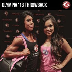 6PF Elite Team Athletes Dana Linn Bailey and Mimi Kong at Olympia 2013. DLB won the inaugural Women's Physique Showdown, and newbie competitor Mimi enjoyed her second trip to the Olympia! #tbt #olympia2013 #mealmanagement