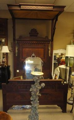 1000 Images About Half Tester Beds On Pinterest Mallard Rococo And Victorian