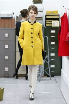 2013 winter gucci women greatcoat Wool coat yellow for women,high quality! Only $76.6USD
