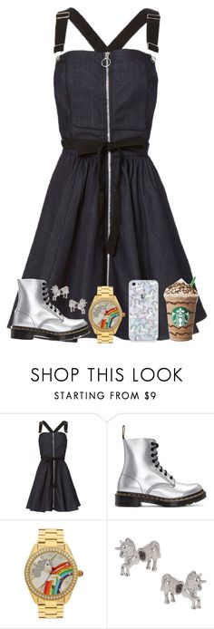 """""""Unicorn Theme"""" by loveandintelligence ❤ liked on Polyvore featuring Adam Selman, Dr. Martens, Betsey Johnson and Topshop"""
