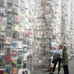 Parthenon of Books in Kassel, Germany  ~ made from 100,000 banned books