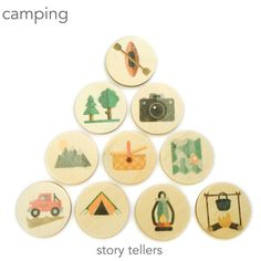 camping - story tellers / story stones by mylittleset on Etsy https://www.etsy.com/au/listing/505572782/camping-story-tellers-story-stones