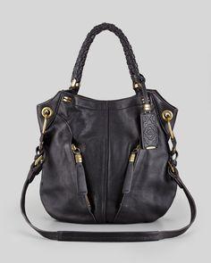 Oryany Gwen Leather Shoulder Bag, Black - Neiman Marcus