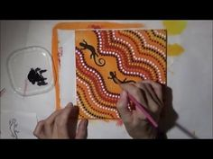 Acrylic Painting Lizard Dot Art Abstract Painting #PawgustArt - YouTube