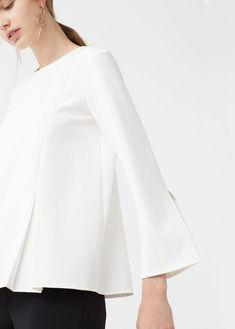 067e6320c73 White Fashion, Shirt Style, White Shirts Women, Blouses For Women, White  Outfits