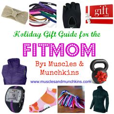 Holiday gift ideas for the fit mom.  Fitness finds every mom will like this holiday season.