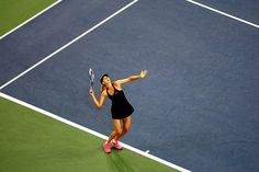 Maria Sharapova earned a victory in her first US Open match in nearly two years, beating compatriot Maria Kirilenko, 6-4, 6-0. - Corey Silvia/usopen.org