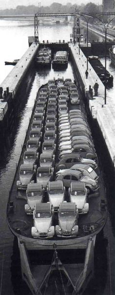 Don't you just hate it when you decide to arrive at the ferry boat party in your brand new Citroën 2cv and everyone else has the same car?