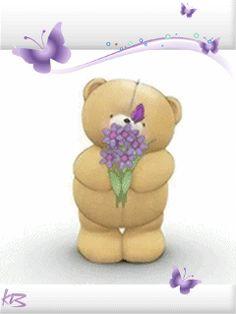 Мишка и бабочка - анимация на телефон №1034633