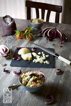 Risotto con speck, radicchio e scamorza. #risotto #ricetta #blog #foodblogger #recipes #cosefatteincasa http://cosefatteincasa.it/2015/12/06/risotto-con-radicchio-speck-e-scamorza/