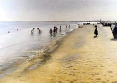 Summer day in Skagen, Peder Severin Kroyer,   Danish Painter, born in Norway (1851 - 1909)