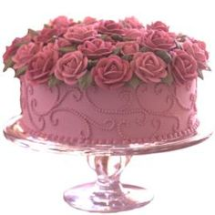 bouquet of roses and cake all in one!