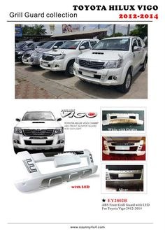 China Hot Sale Hilux Vigo Front Grille Guard Find details about China Hilux Vigo Front Grille Guard Hilux Vigo Accessories from Hot Sale Hilux Vigo Front Grille Guard - Esunny Co. Toyota Hilux, Grill Guard, 4x4 Accessories, Front Grill, Car Colors, Dodge Trucks, Abs, China, Crunches